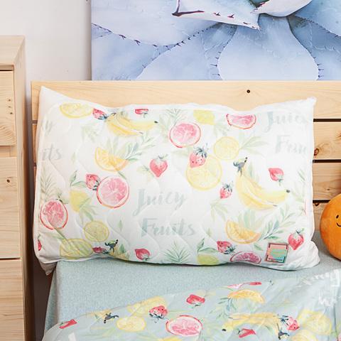 沁甜果舞涼感枕頭墊2入組-米
