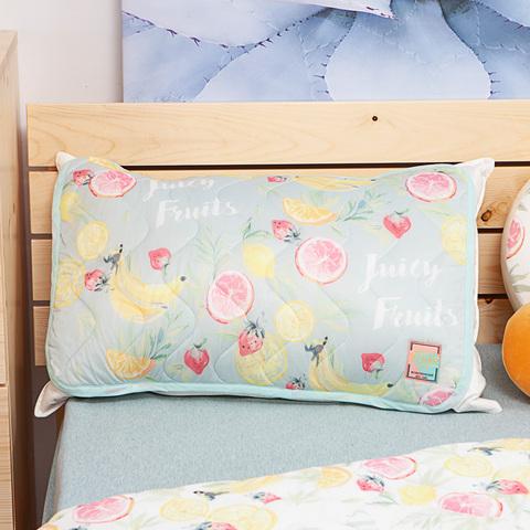 沁甜果舞涼感枕頭墊2入組-綠