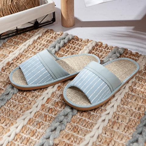 霓漾拾光紙蓆拖鞋-藍M