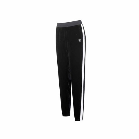FILA 女絨質長褲-黑色 5PNU-5606-BK