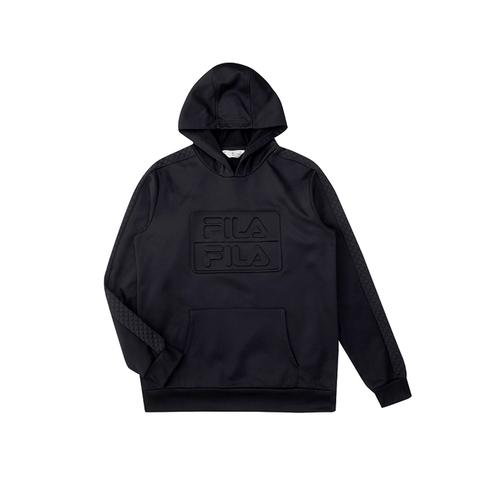 FILA 男連帽T恤-黑色 1TEU-5483-BK