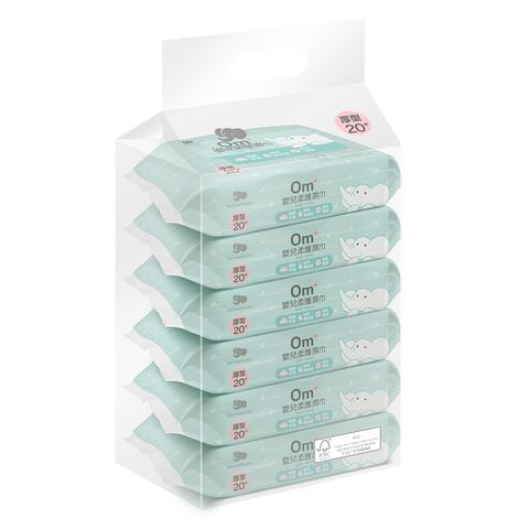 Les enphants 麗嬰房 EDI超純水濕巾(20抽)x6包/串