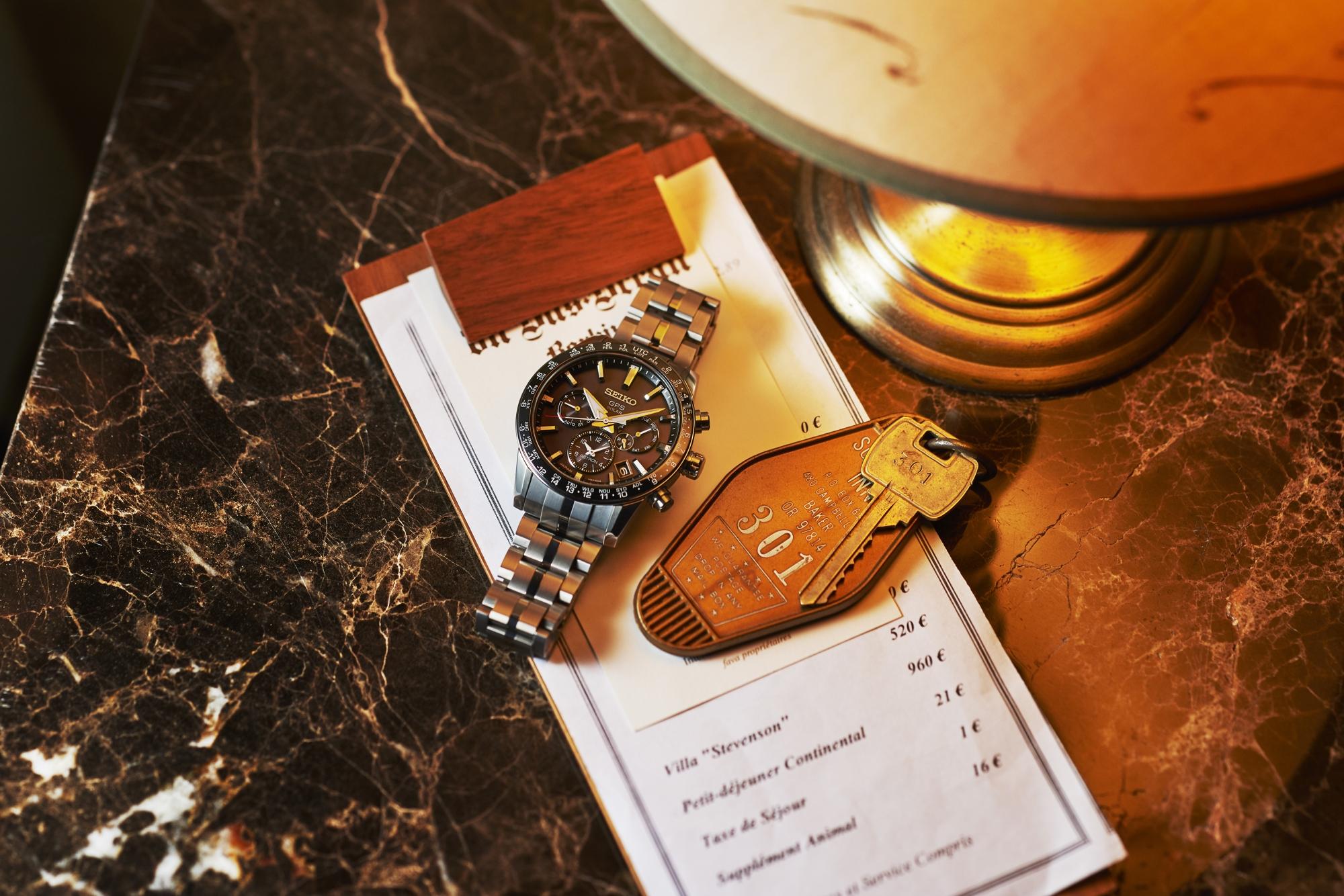 SEIKO 台灣精工 5X53 雙時區 鈦金屬錶款 SSH003J1